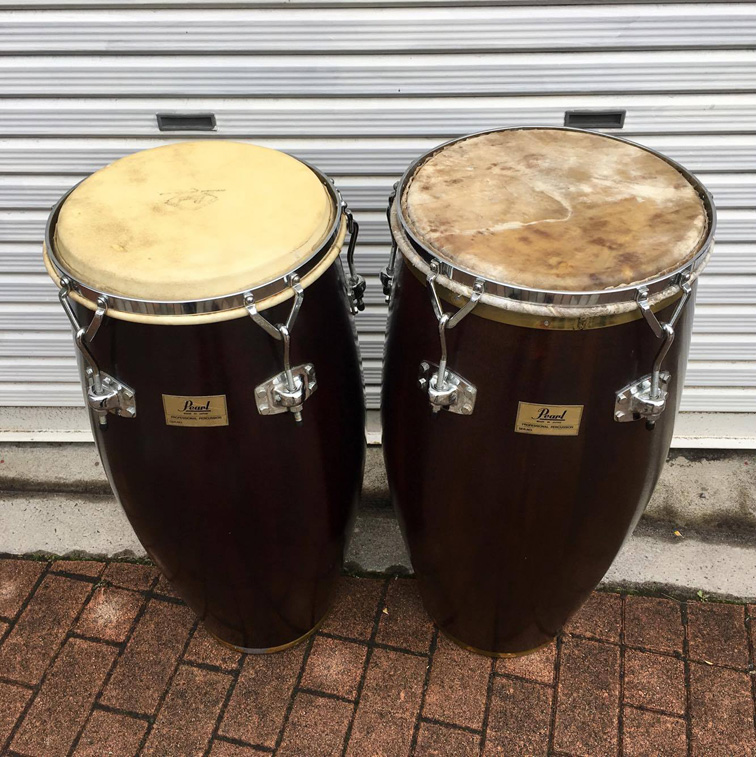 Pearl Vintage 80's Congas(Made In Japan)